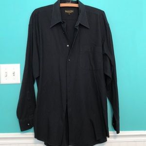 XL black Roberto Villini dress shirt